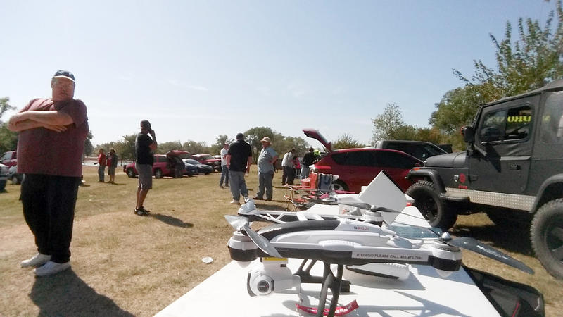 OKC Drones monthly meetup at Wake Zone Cable Park in Southeast Oklahoma City.