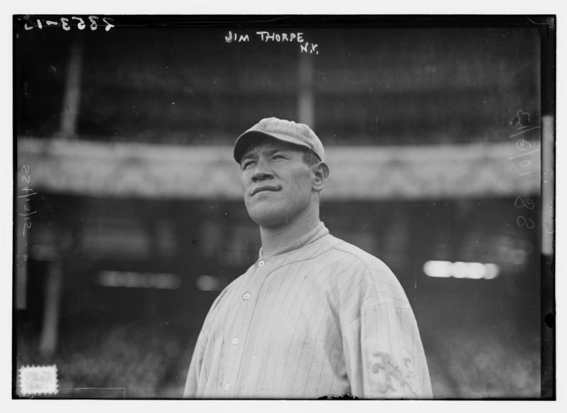 Jim Thorpe at New York's Polo Grounds in 1913.