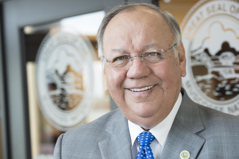 Principal Chief, George Tiger of the Muscogee (Creek) Nation in Okmulgee, OK, on Tuesday, Apr. 7, 2015.