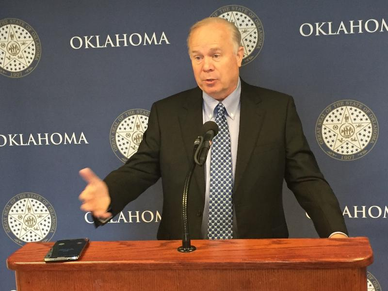Oklahoma Democratic Party chairman Mark Hammons during a Thursday press conference.