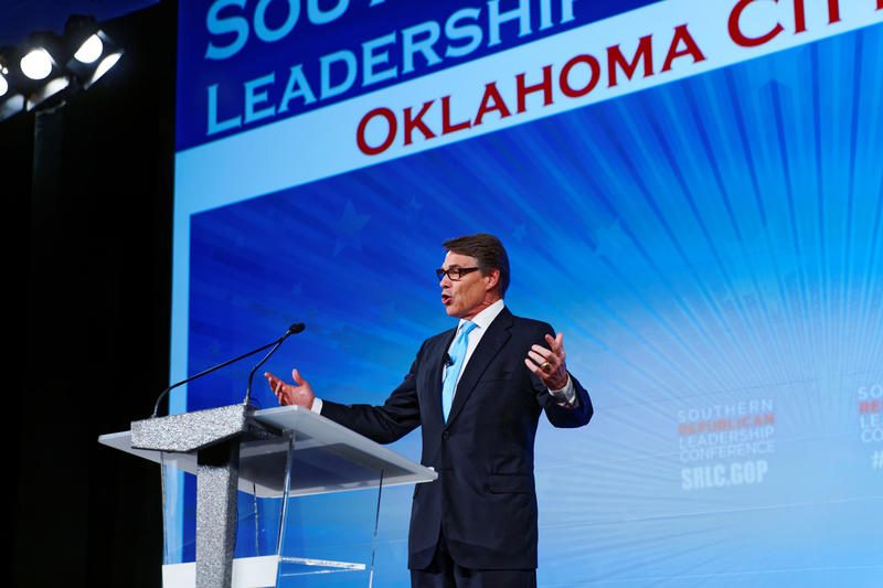 Former Texas Gov. Rick Perry at the Southern Republican Leadership Conference in Oklahoma City in May.