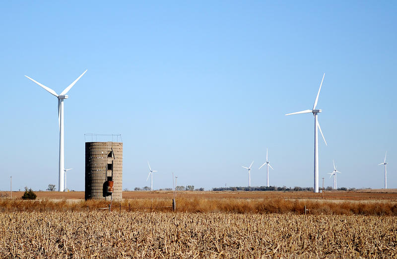 Wind turbines near Hunter in Garfield County reflect the growth of the wind energy business in the state. Tax breaks for wind power are among incentives recommended for review by an Incentive Evaluation Commission.