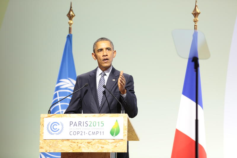 President Obama addresses the Paris climate talks - November 30, 2015.