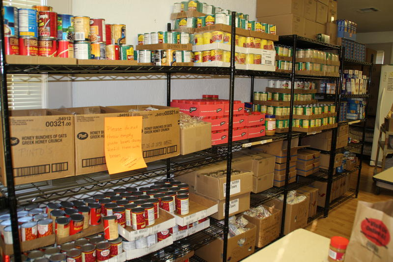 Stocked Shelves at McFarland Food Pantry