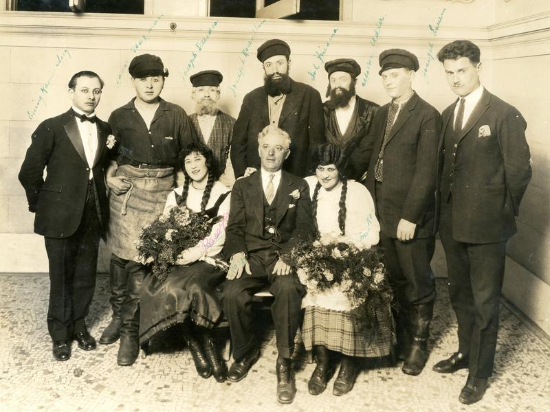 "Cast of ""The Blacksmith's Daughter,"" a production of the Jewish Literary and Dramatic Club, 1927."