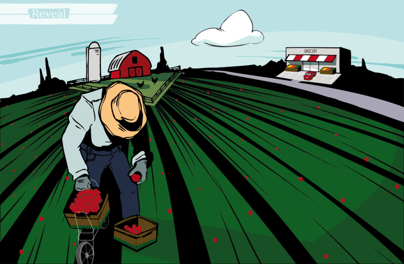 illustration of farm worker