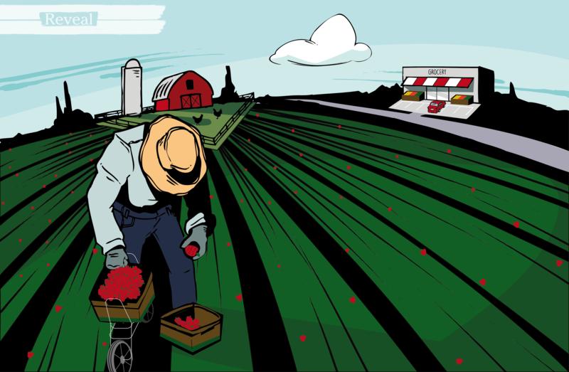 illustration of farm worker