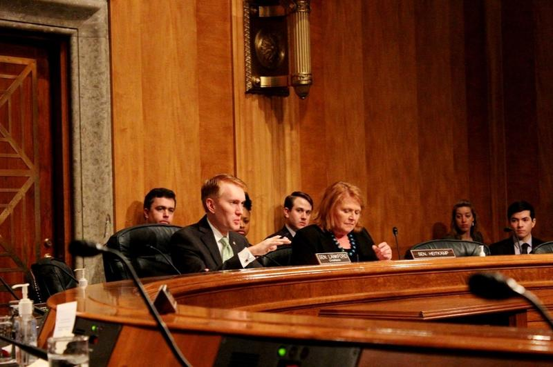 U.S. Sen. James Lankford chairs a 2015 Homeland Security and Governmental Affairs Subcommittee on Regulatory Affairs and Federal Management hearing