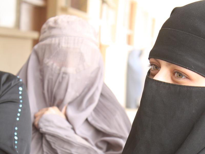 Afghan women at a polling location during 2010 parliamentary elections.