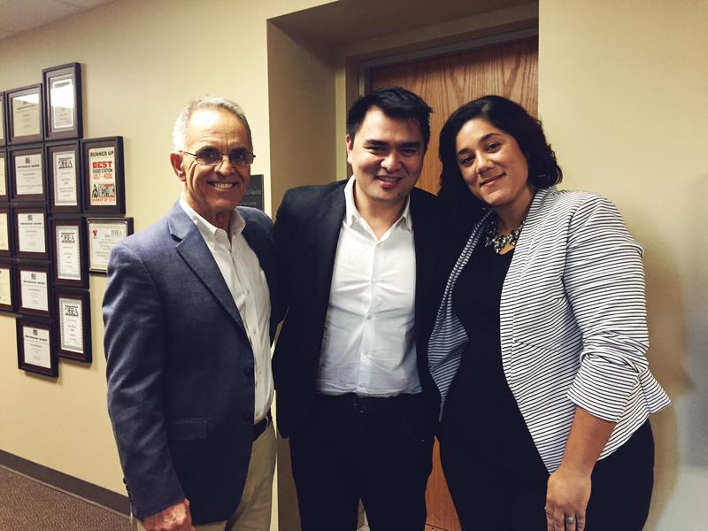 Jose Antonio Vargas with Race Matters host Merleyn Bell and World Literature Today's R.C. Davis.
