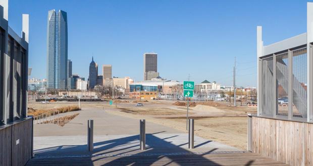 The site of the MAPS 3 park in downtown Oklahoma City.