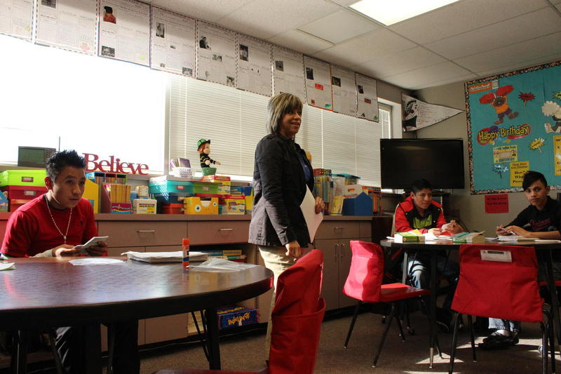Lori Navarro teaches English as a second language at a high school in Liberal, Kansas. She says she has had several unaccompanied minors in her classroom.