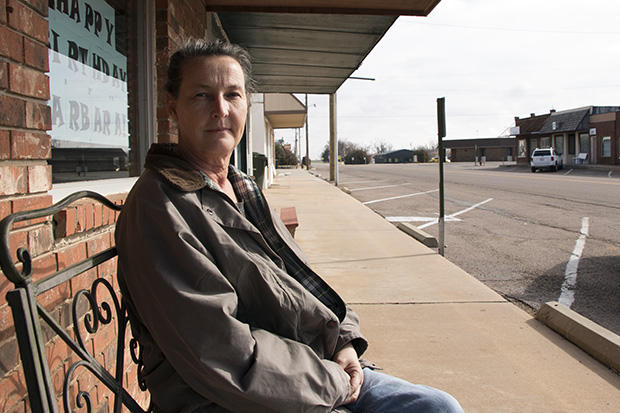 Corn, Okla., Mayor Barbara Nurnberg outside city hall in January 2016.