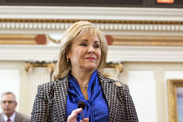 Gov. Mary Fallin delivers her 2016 State of the State address Feb. 1, 2016.