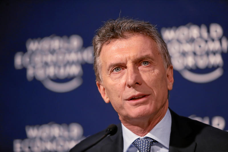 Argentina's president Mauricio Macri speaks during a press conference at the Annual Meeting 2016 of the World Economic Forum in Davos, Switzerland, January 22, 2016.