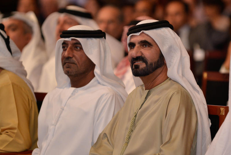Sheikh Mohammed Bin Rashid Al Maktoum, Vice President and Prime Minister of the United Arab Emirates and Ruler of Dubai at the World Economic Forum's Summit on the Global Agenda 2010 held in Dubai, November 29, 2010.