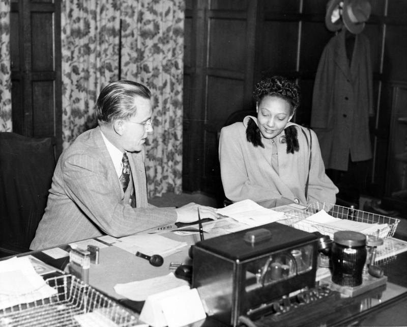 University of Oklahoma President George Lynn Cross With Ada Lois Sipuel Fisher, 1948