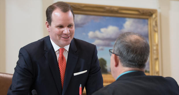 Lt. Gov. Todd Lamb shorlty before the State of the State address Monday at the Oklahoma state Capitol.