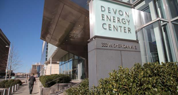 The Devon Energy Center in downtown Oklahoma City.