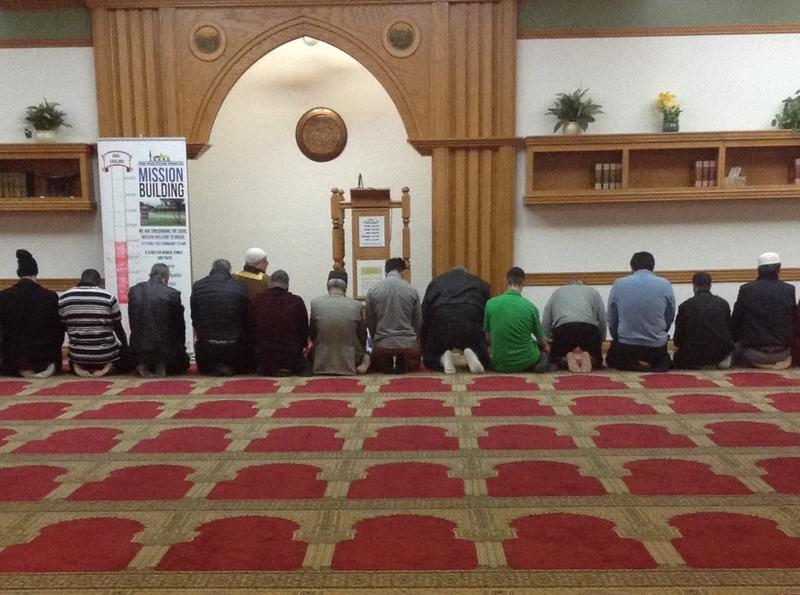 Imam Imad Enchassi leads a prayer at the Islamic Society of Greater Oklahoma City.