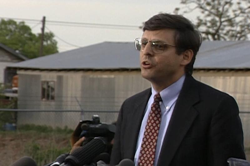 U.S. Supreme Court nominee Merrick Garland speaks at Timothy McVeigh's first presentment hearing at Tinker Air Force Base on April 21, 1995.