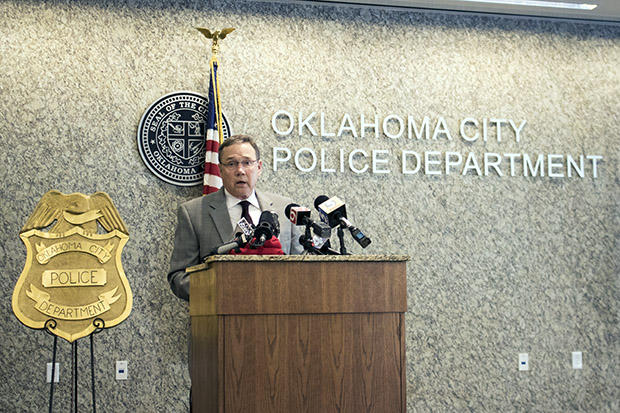 Oklahoma City Police Department Chief Bill Citty during a press conference.