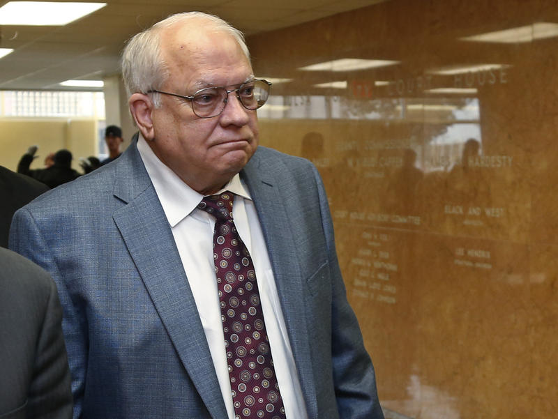 Robert Bates arrives for his arraignment at the Tulsa County courthouse on April 21, 2015.