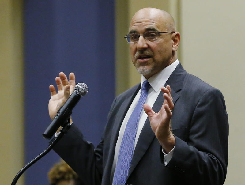 Oklahoma City Public Schools Superintendent Rob Neu speaks to legislators in Oklahoma City, Thursday, April 30, 2015.