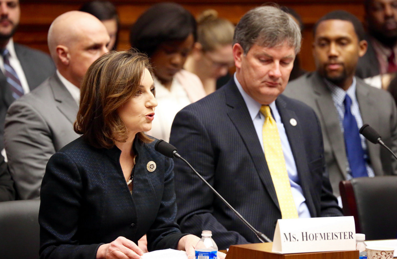 State Superintendent Joy Hofmeister testifies February 10 before the House Subcommittee on Early Childhood, Elementary, and Secondary Education.