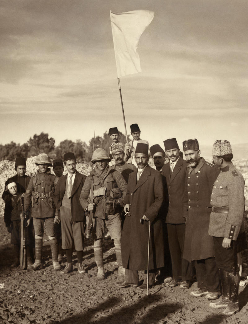 The Ottoman surrender of Jerusalem to the British on December 9, 1917.