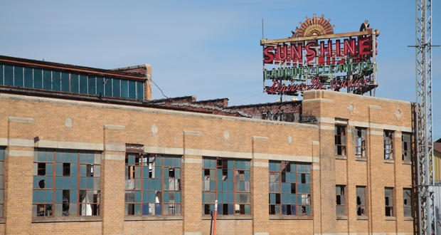 The neon sign still stands outside the Sunshine Cleaners building at 1012 NW First St. in Oklahoma City.