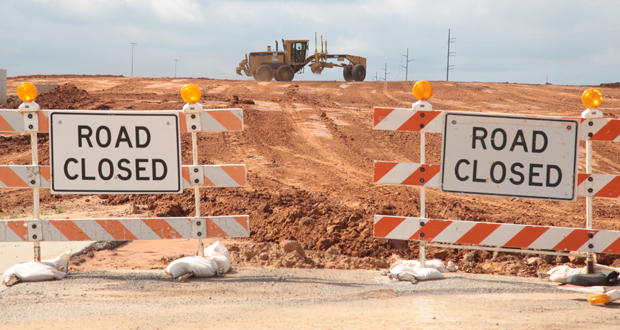 Construction continues on Evans Road at State Highway 66 east of El Reno.