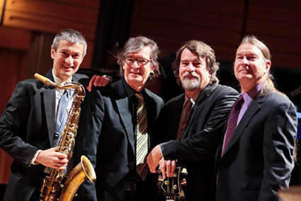 Dave Brubeck's sons, with Dave O'Higgins, will perform at the Bethany First Church of the Nazarene on April 5, 2016.