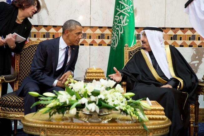 President Obama meets with King Salman during a 2015 trip to Saudi Arabia.