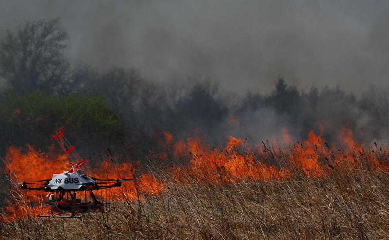 Researchers designed a new drone that can start fires, potentially useful to keep people out of harms way during prescribed burns of rangeland.