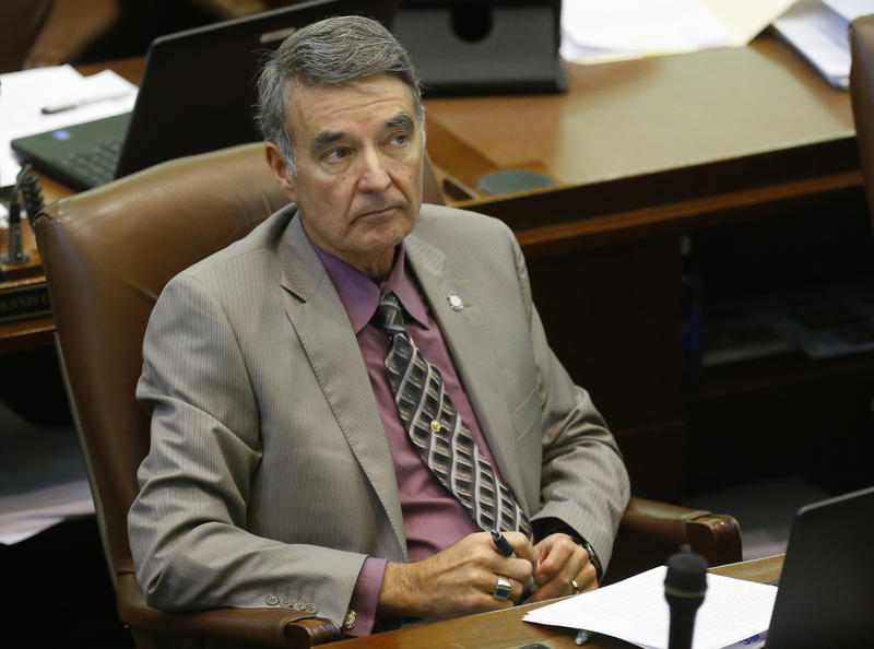 State Rep. Doug Cox, R-Grove, on the floor of the Oklahoma House in Oklahoma City, March 2, 2015.