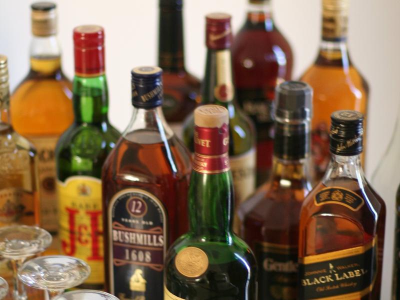 liquor bottles, alcohol