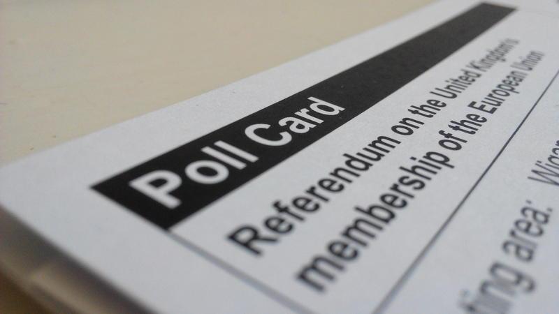 Brexit poll card