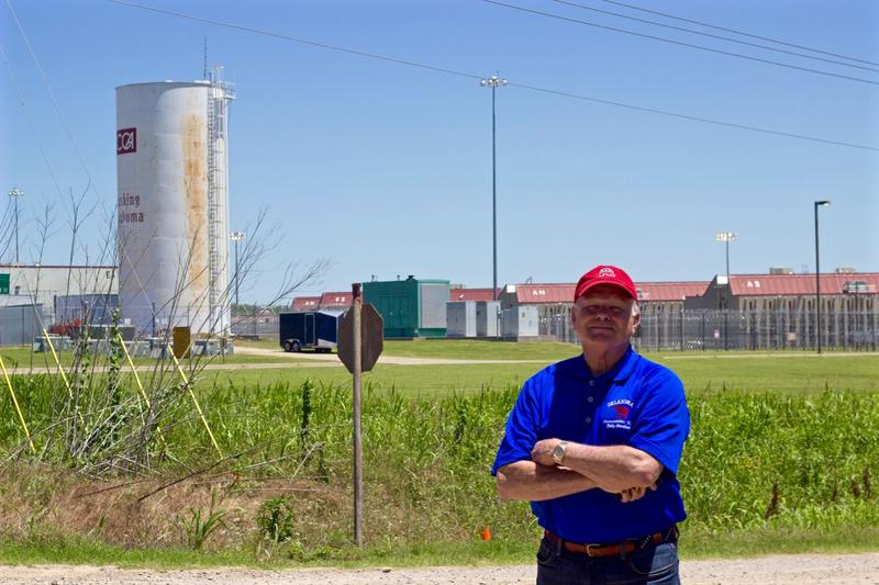 State Rep. Bobby Cleveland stands outside Cimarron Correctional Facility in Cushing in June 2016