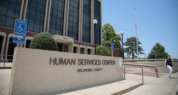 The Oklahoma Department of Human Services' Human Services Center in Oklahoma City.