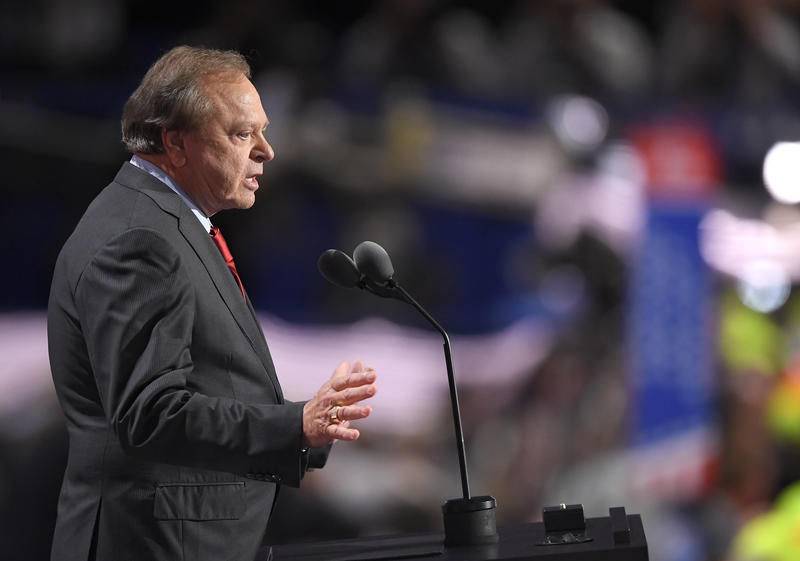 Harold Hamm, CEO of Continental Resources, speaks during the third day of the Republican National Convention in Cleveland, Wednesday, July 20, 2016.