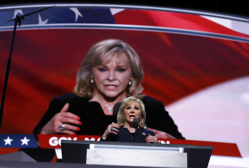 Gov. Mary Fallin speaks during the final day of the Republican National Convention in Cleveland, Thursday.