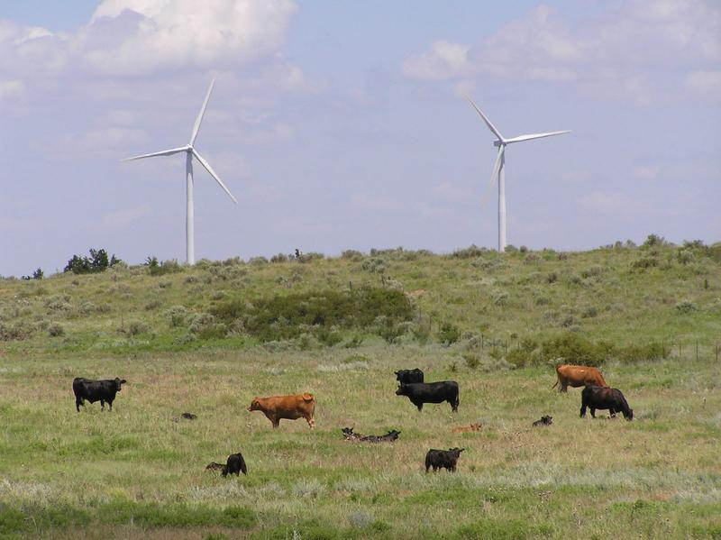 A wind farm near Woodwoard and Harper Counties in northwestern Oklahoma.