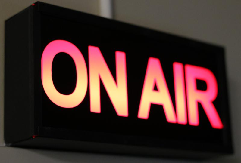 KGOU's on-air sign