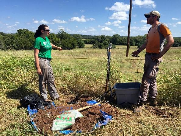 "A team of earthquake scientists deploys 12"" sensors in a field near Pawnee after Saturday's 5.6 magnitude earthquake."
