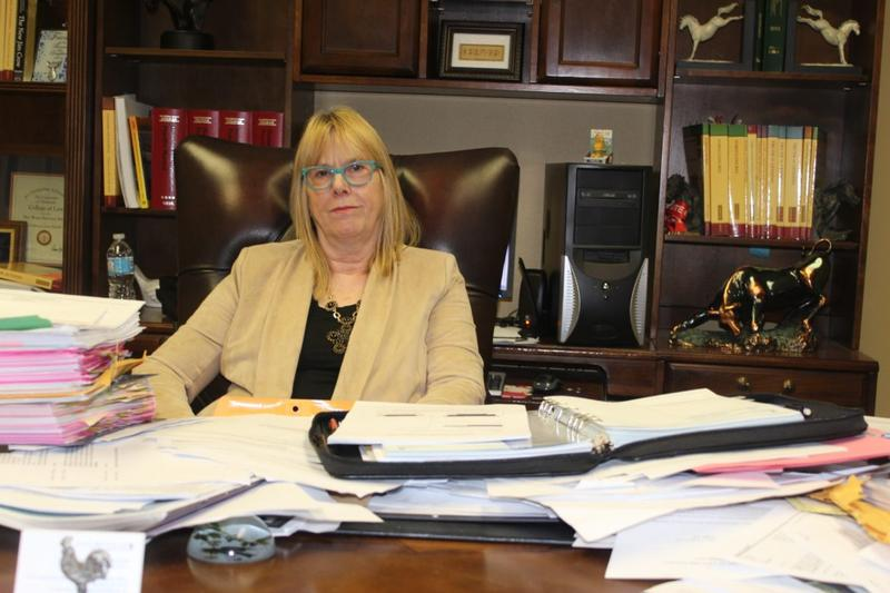 Janet Roloff, managing attorney at the Legal Aid Services of Oklahoma's McAlester office, represents a Fort Towson couple who couldn't afford a private attorney in a legal action to foreclosure on their mobile home.