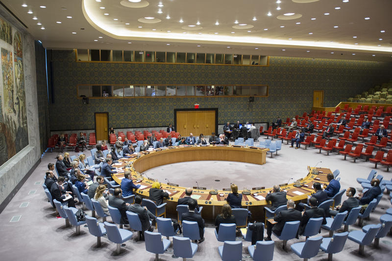 An October 13 UN Security Council meeting on the threat to international peace and security caused by terrorist acts. The Council considered the third report of the Secretary-General on the threat posed by ISIS to international peace and security.
