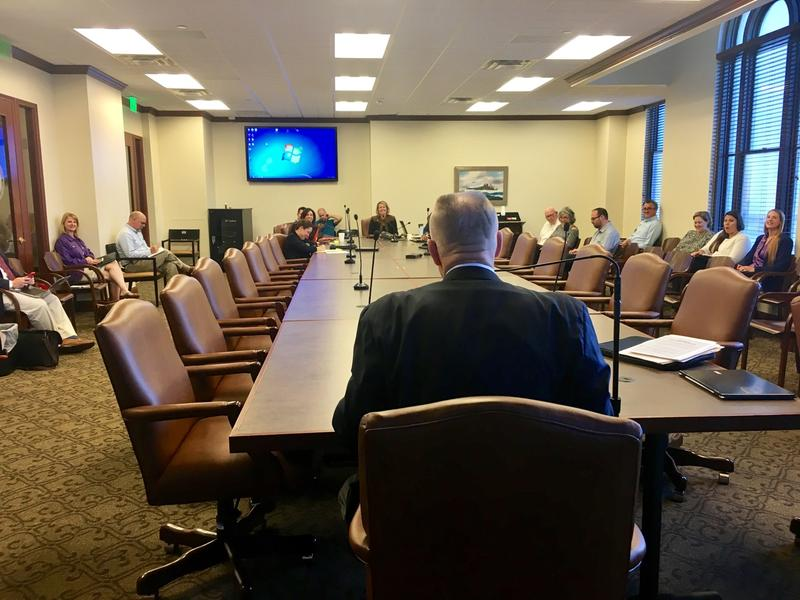 Corrections Director Joe Allbaugh speaks to members on the House Criminal Justice and Corrections Committee on October 19, 2016