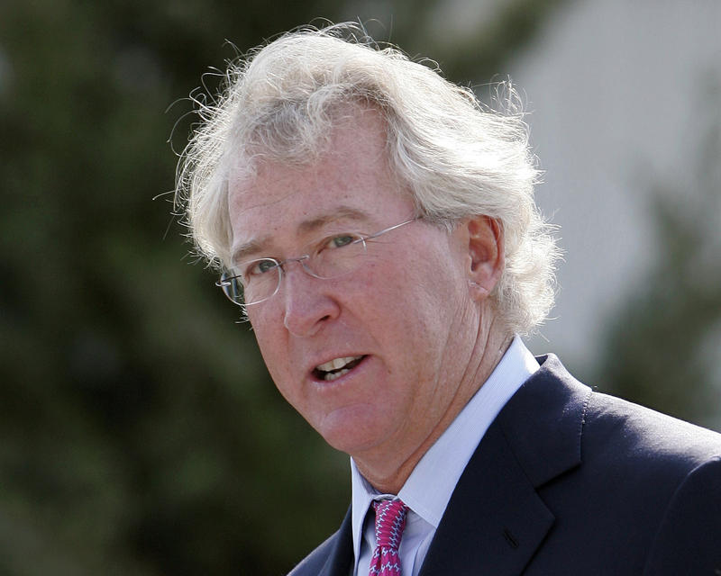 Chesapeake Energy Corp. CEO Aubrey McClendon speaks during the opening of a compressed natural gas filling station in Oklahoma City, Sept. 8, 2009.