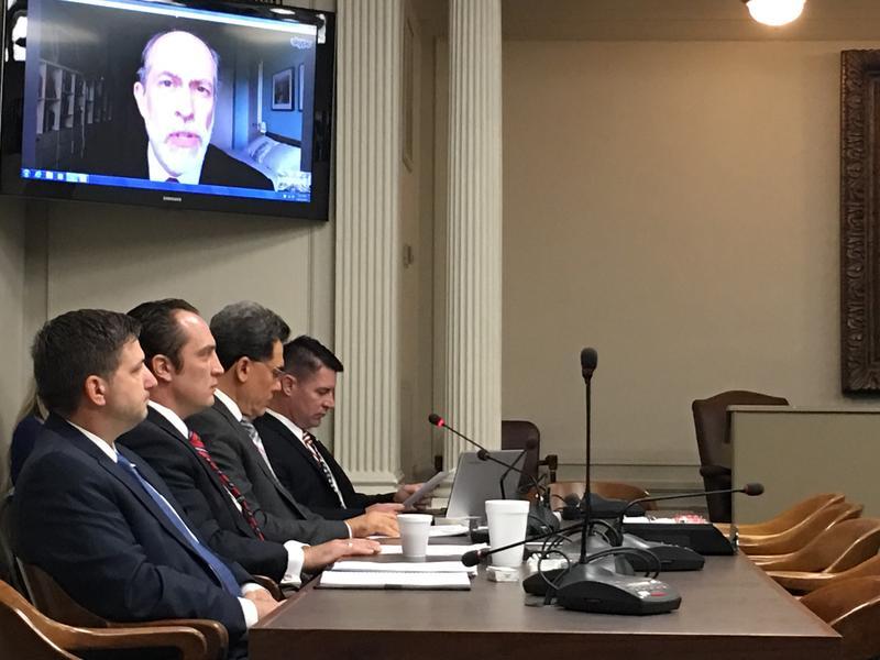 State Rep. John Bennett, R-Sallisaw, (far right) leads Tuesday's interim study into Islam, the Muslim Brotherhood, and Sharia law.